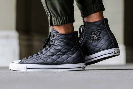Quilted High-Top Sneakers - The Converse All Star Quilt Pack is the Perfect Shoe for Fall