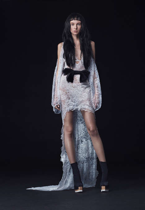 Edgy Wedding Dresses - The Vera Wang Bridal Fall Collection is Fit for the Avant-Garde Bride