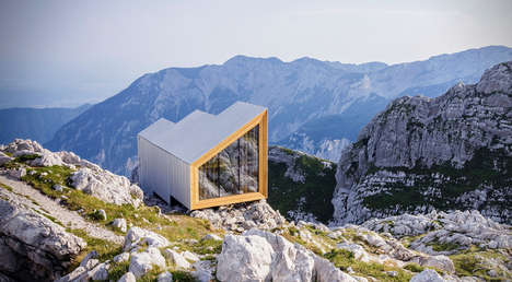 Multi-Tiered Mountain Homes - This Breathtaking Cabin is Perched on a Mountain Peak