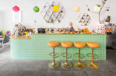 Playful Coffee Bars - Café August Marries a Vibrant Brand Identity with Quirky Decor Accents