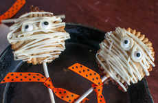 Mini Mummy Pies - Oh Sweet Basil's Spooky Pie Pops Recipe is Perfect for Halloween Parties