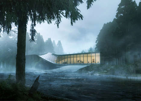 Twisted Nordic Museums - This Stunning Art Gallery Will Be Built Across a Norwegian River
