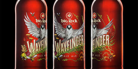 Nature-Inspired Beer Labels - These 'Wayfinder' Beer Labels Pay Tribute to the Great Outdoors