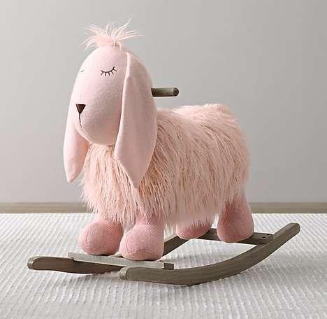 Plush Sheep Rockers - This Plush Animal Rocker is Inspired by Wooly Wildlife