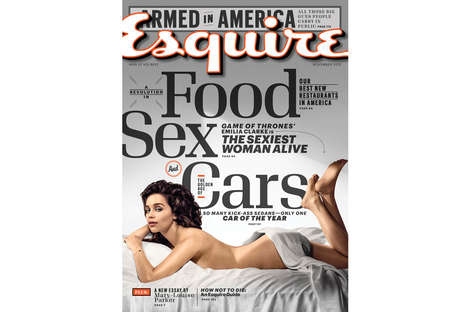 Sultry Fantasy Star Covers - Emilia Clarke is Dubbed Sexiest Woman Alive by Esquire Magazine
