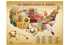 Edible Patriotic Food Maps