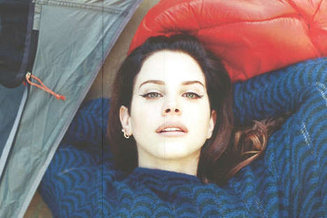 Camping Songstress Editorials - Lana Del Rey Hangs Out in the Woods for Marfa Journal Magazine