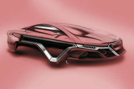 Wheel-Free Sports Cars - This New 'Audi Concept' Visualizes a Sleek Car Without Wheels