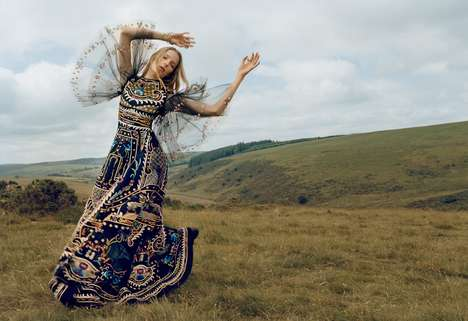 Wild Bohemian Editorials - Alisa Ahmann Plays a Carefree Nomad in the Porter Magazine #11 Issue