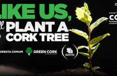 Social Tree-Planting Initiatives - 100% Cork Makes It Possible to Plant a Tree with a Facebook Like