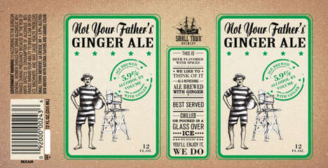 Refreshing Alcoholic Sodas - Not Your Father's Ginger Ale is Delicious and Exactly as Titled