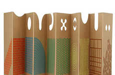 Cardboard Play Panels - These Cardboard Dividers by Enzo Mari Protect Play Spaces