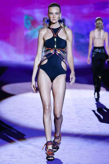 Vibrant Beach Couture - The Dsquared2 Spring/Summer RTW Collection Boasts Eccentric Beach Style