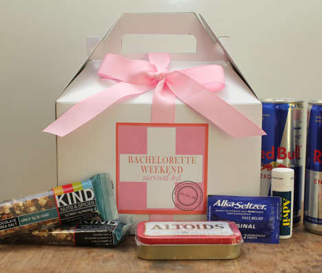 Pre-Wedding Survival Kits - This Bachelorette Weekend Survival Kit Includes Hangover Aids and More