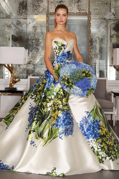 Tuscan Bridal Couture - The Romona Keveza Fall Collection Blooms Like a Tuscan Garden
