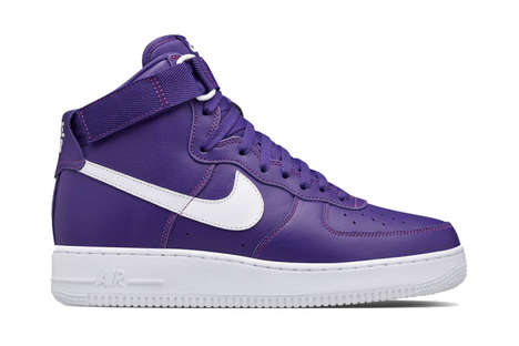 Violet Varsity Sneakers - The Nike Air Force 1 High Athletic Sneakers are a Revival of a 90s Style