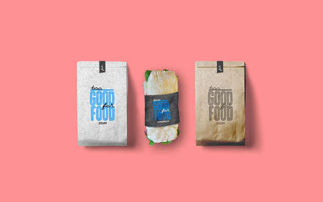 Dainty Chalkboard Cafe Branding - The Too Good for Food Stuff Offers Stylishly Simple Designs