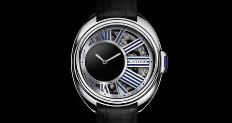 Sleek Skeletal Watches - This Cle de Cartier Timepiece Shows Wearers How it Works