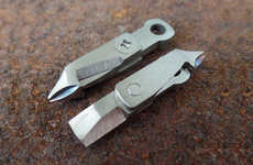 Tiny Titanium Tools - This Miniature Multi-Tool is Tiny Enough to Fit Almost Anywhere