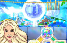 Songstress Smartphone Games - This Shakira Game Lets Players Collect Gems with the Worldly Pop Star