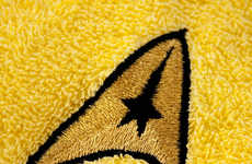 Galactic Hand Towels - These Hand Towels are Decorated with a Special Star Trek Design