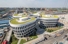 Flower-Mimicking Offices - This Office Building is Designed to Resemble a Four-Petaled Flower