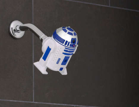Sci-Fi Shower Heads - These Shower Attachments Feature Designs Inspired by R2-D2 and Darth Vader