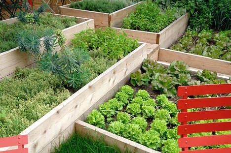 Communal Garden Eateries - The Erba Brusca Restaurant Boasts Organic Ingredients & Communal Dining