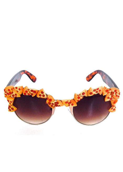 Pizza-Adorned Sunglasses - The Pizza Party Pepperoni Slice Sunglasses are Unexpected