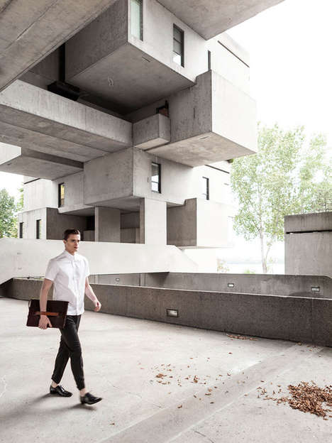 Hanging Concrete Homes - This Modernist Condo Has a Dynamic Layout and Open Concept