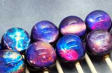 Space-Inspired Lollipops - These Galactic Lolliops Feature Out-of-This-World Decoration
