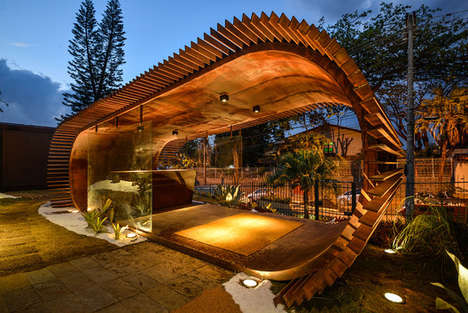 Spiked Oblong Pavilions - This Round Pavilion Was an Entryway into a Brazilian Art Exhibition