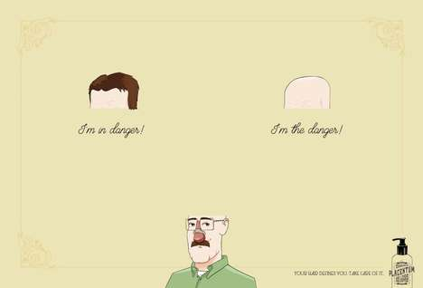 Balding Shampoo Ads - These Ads Show the Destinies of a Bald Versus a Full-Haired Walter White