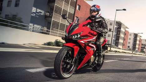 Edgy Aggressive Motorbikes - The Honda CBR500R Features An Updated Face Design