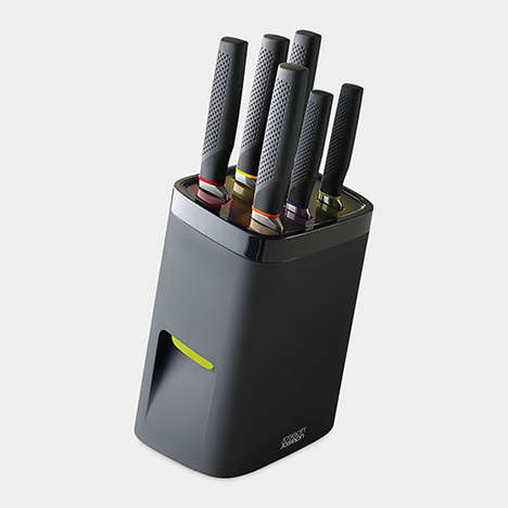 Lockable Knife Blocks - This Knife Block Keeps Sharp Objects Out of Reach from Junior Chefs