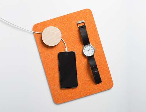 Smart Device Placemats - The Most Modest Simon Charging Mat is Perfect for Placing Important Items