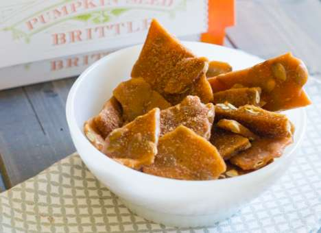 Autumnal Pumpkin Brittles - The Trader Joe's Pumpkin Seed Brittle is a Festive Fall Snack