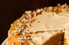 Caramel Pumpkin Cakes - This Decadent Brown Butter Cake Features a Salted Caramel Frosting