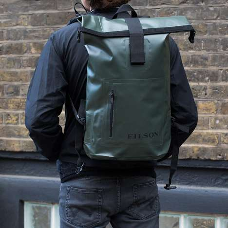 Water Resistant Backpacks - The Dry Day Knapsack Model by Filson Keeps Your Belongings Safely Dry