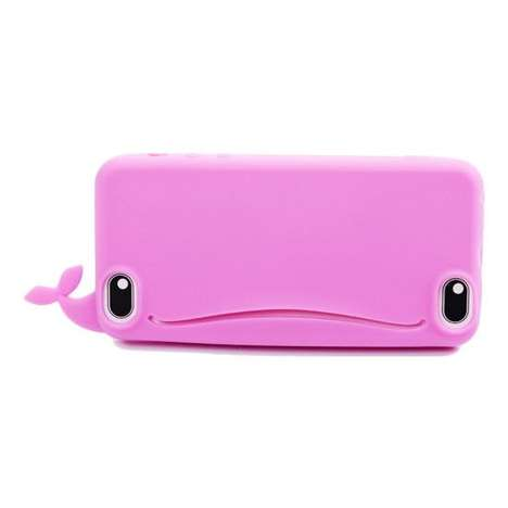 Sea Creature Pocket Cases - This iPhone Case Model is a Whale with a Mouth to Store Small Objects