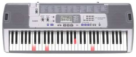 Digital Teacher Keyboards - The Casio LK-100 Lighted Keyboard Teaches to Play in an Innovative Way