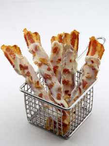 Chocolate-Covered Bacon - These Fried Bacon Strips are Covered in Chocolate and More Bacon