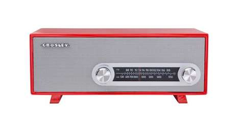 Updated Antique Radios - The Crosley Ranchero Classic Speaker Plays MP3s from a Smartphone or Tablet