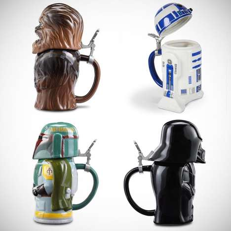 Sci-Fi Beer Steins - These Ceramic Beer Mugs are Shaped Like Figures from the Star Wars Films