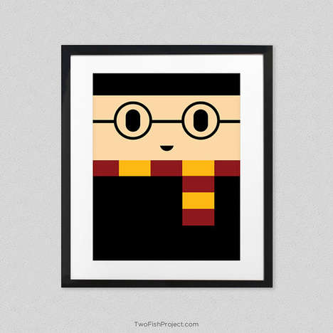 Cartoon Block Art Posters - This Artist Created a Series of Minimalist Cartoon & Superhero Posters