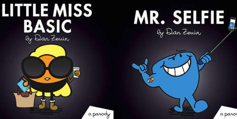 Punny Millennial Book Characters - These 'Mr. Men' Books Mock Current Social Culture Lifestyles