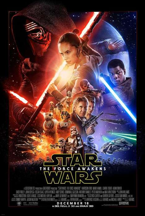 Space Saga Film Posters - The New Star Wars Movie Poster Maintains the Film Franchise's Iconic Style