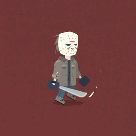 Quirky Horror Movie GIFs - Thse Animations Bring a Sense of Humor to Murderous Movie Characters