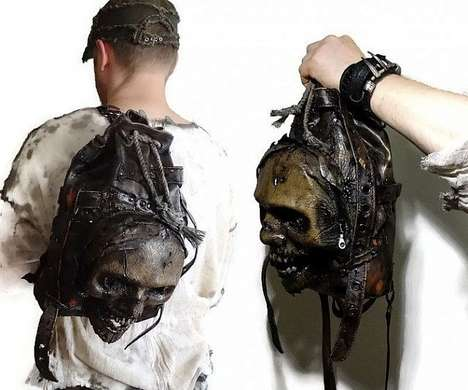Zombie Head Backpacks - This Leather Bag is Made to Resemble an Undead Monster Head