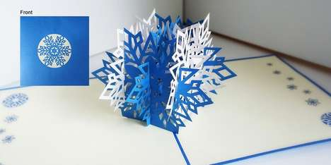 Pop-Up Christmas Cards - Nalacards Surprises with Intricate 3D Sculptures and Beautiful Handwriting